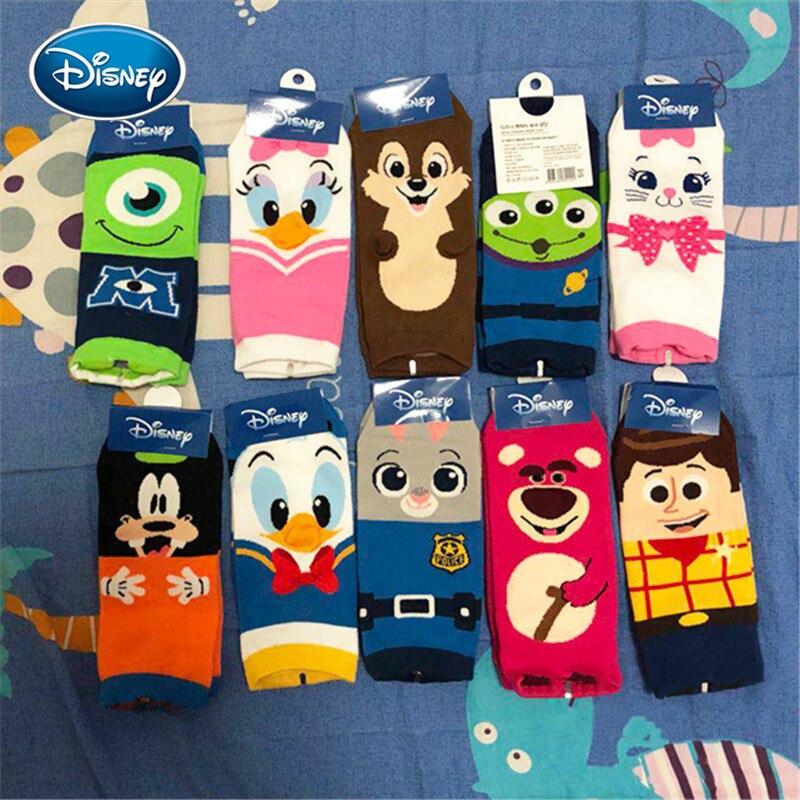 Disney outono meias de brinquedo história impressão ms. bonito dos desenhos animados tubo meias de algodão amadeirado/pateta/judy coelho meias