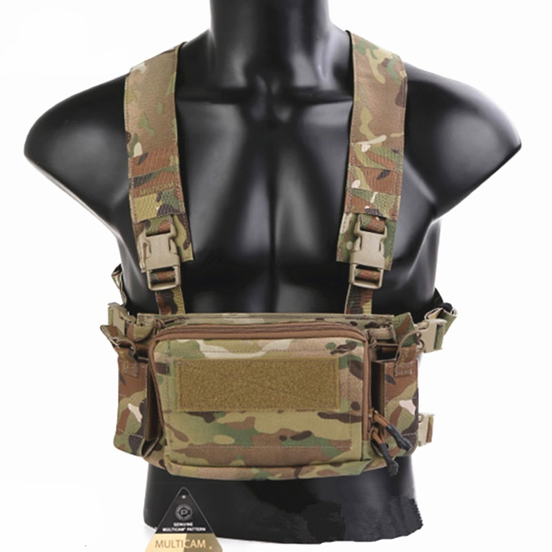 Emersongear D3CR Micro Chest Rig Mini Spiritus Airsoft Hunting Vest Ranger Military Tactical Carrier Vest with Magazine Pouch army tactical carrier armor chest rig vest harness rifle pistol magazine pouch crx hunting equipment accessories 5 56
