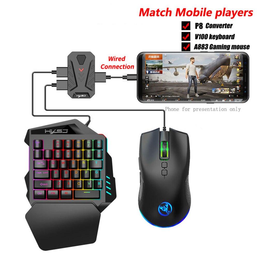 Mando a distancia PUBG para videojuegos... adaptador de ratón para teléfono Android tableta PC