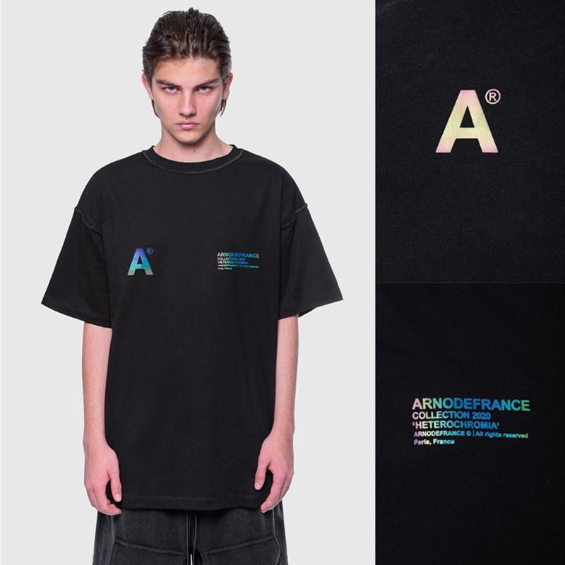 3M светоотражающие Arnodefrance футболки для женщин и мужчин 1:1 высококачественные футболки в стиле хип-хоп Arnodefrance