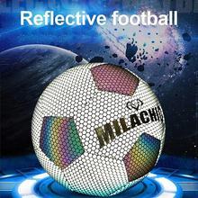 Lueur dans le ballon de Football sombre taille de Football 5 4 pratique Standard formation Football Luminate brillant balles de Football outils réfléchissants