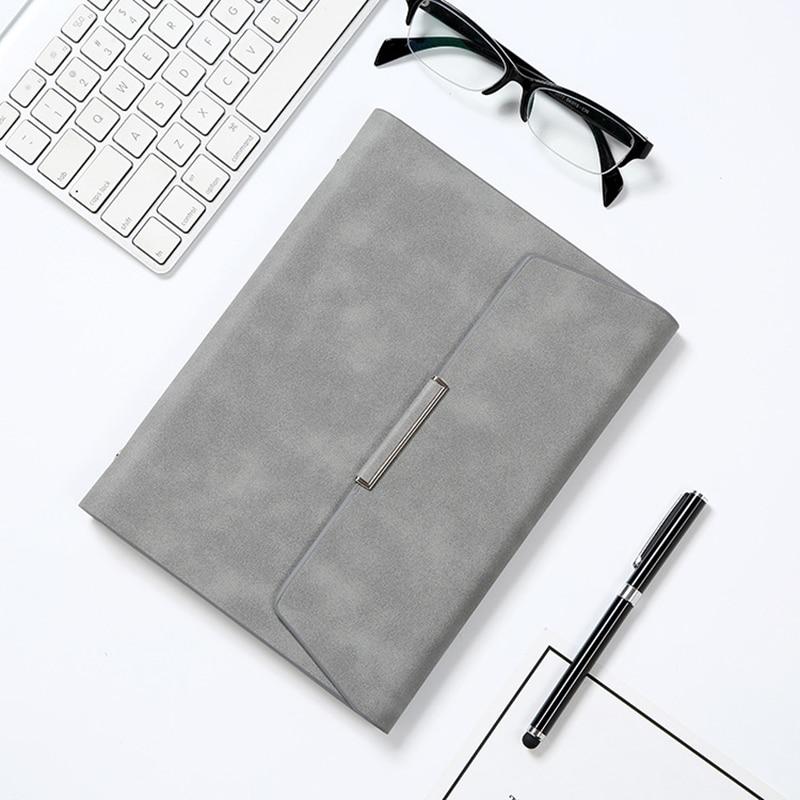 A5/B5 dossier cahier affaires Padfolio cuir bloc-notes gestionnaire de reliure porte-documents organisateur pince à main école notes livres