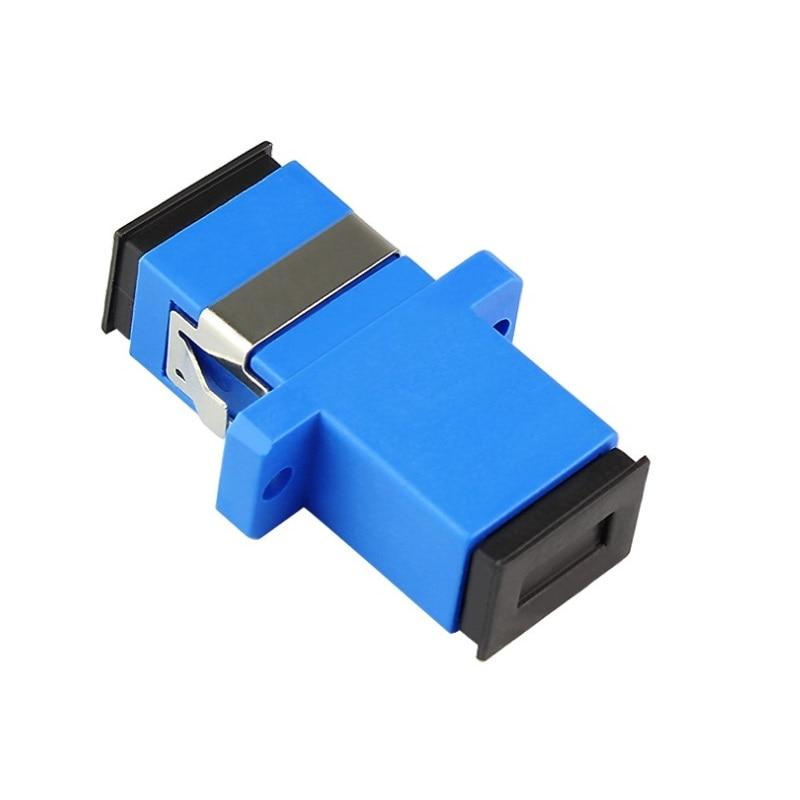 100 قطعة/الوحدة SC/UPC محول جديد SC أنثى الألياف البصرية Simplex وضع واحد SC شفة مع شفة البلاستيك الألياف مقرنة
