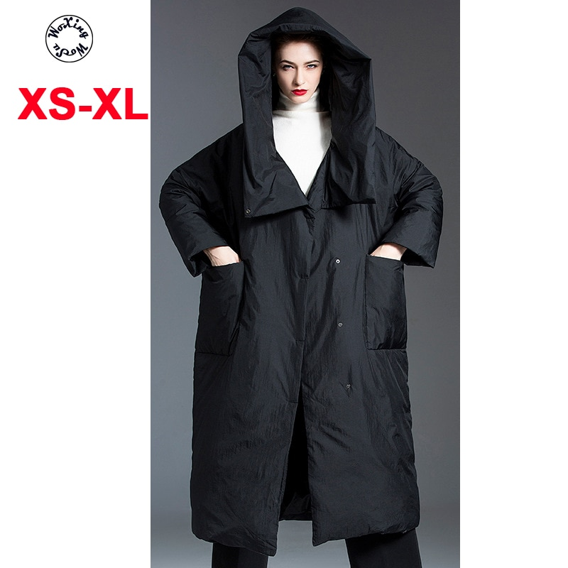Женский утепленный пуховик средней длины, 90 белых пуховиков с капюшоном, размеры от S до XL, новинка 2021
