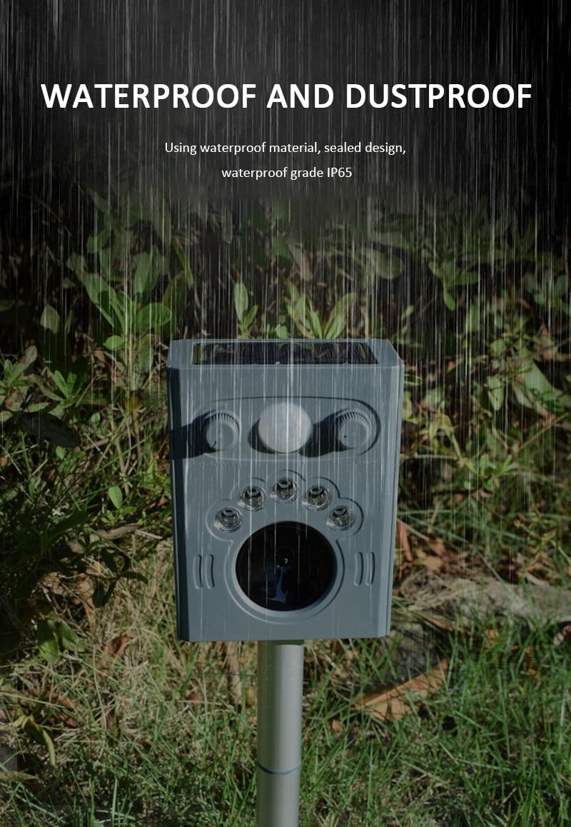 5 Gears Animal Bird Repeller Solar Powered Outdoor Cat Dog Repellent Ultrasonic Pest Control Product