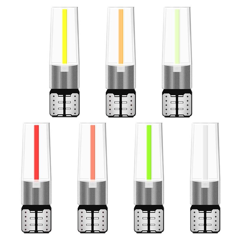1 filamento de luz LED Cob T10 para coche W5W, lámpara de techo para lectura de automóviles, Bombilla DRL DC 12V, accesorios para coche