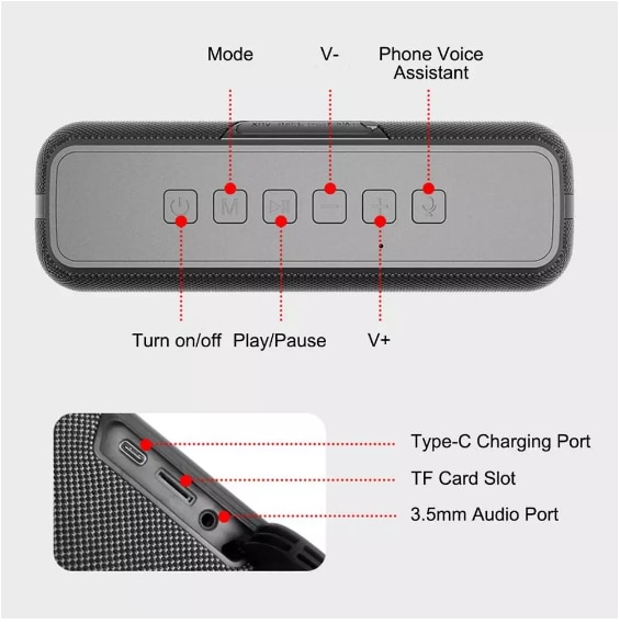 Wireless 50W Bluetooth Speaker High Power Outdoor 3D Sound Stereo TWS Sound Box Portable Heavy Bass Subwoofer AUX USB for PC TV enlarge