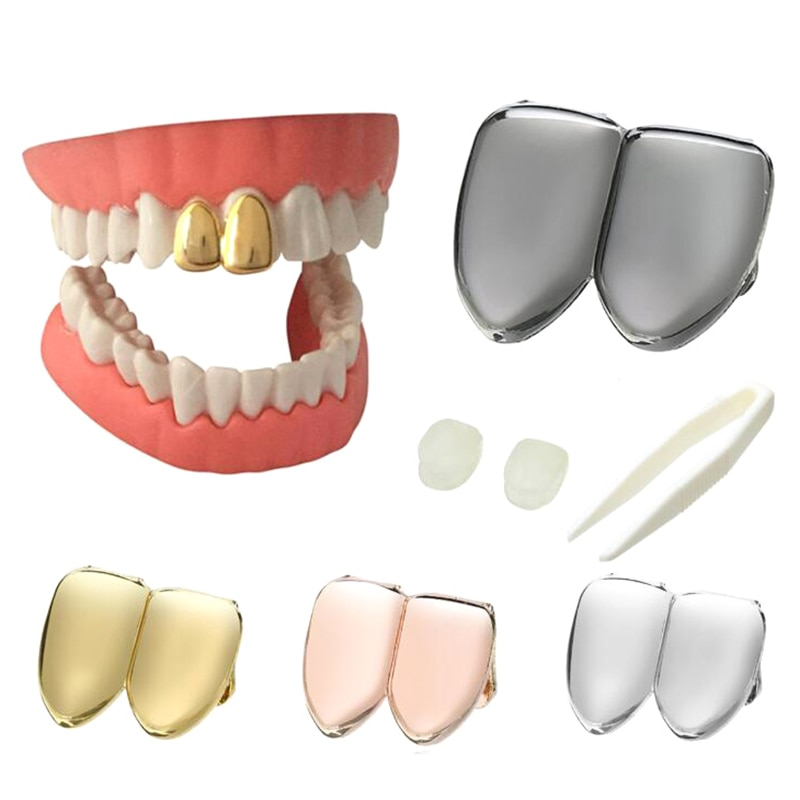 Колпачок для зубов в стиле панк, 1 шт., верхние грили с золотыми зубами для косплея, Ювелирное Украшение, Подарочная крышка с одним зубом