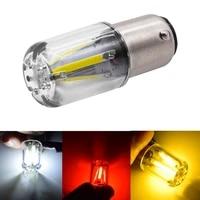 eurs 1pcs 1156 p21w ba15s 1157 bay15d cob led filament chip car brake lights auto reverse bulb parking lamp 12v red white yellow
