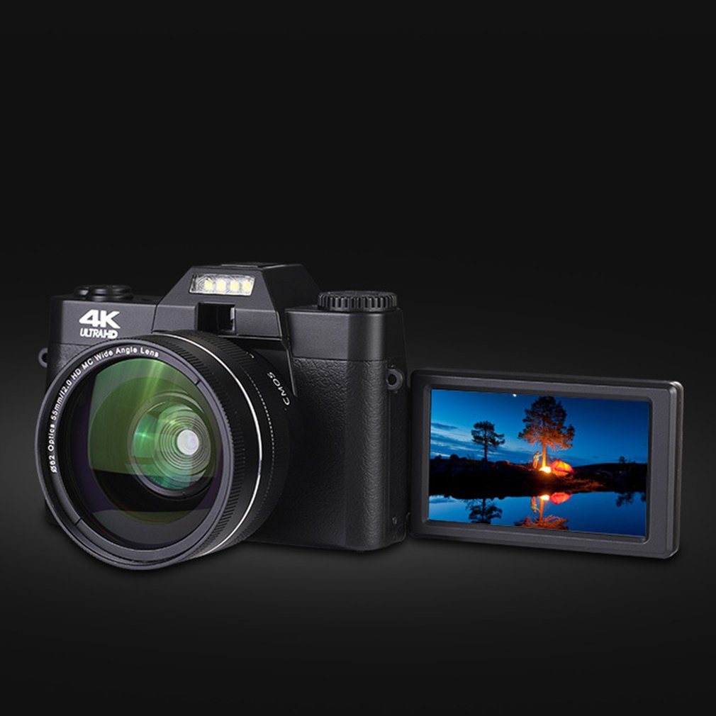 2021 4K HD 16X Digital Camera Micro Single Retro With WiFi Professional wide angle Digital Camera Vlog External Lens Time-lapse enlarge