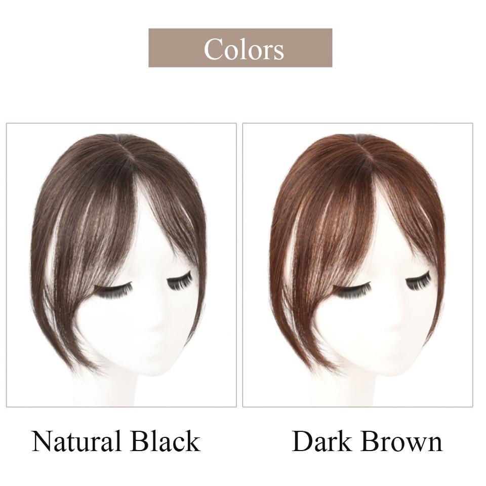Brazilian silky Straight 100% human hair material clip in bangs Human Hair Toupee Hair for Women clips for women