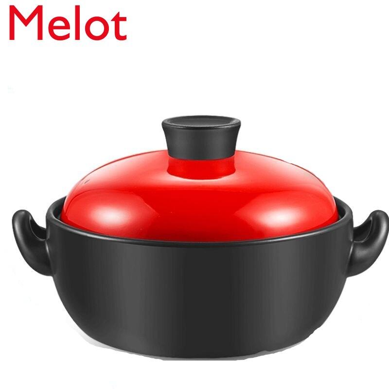 الراقية الفاخرة خزفي إناء فخار الأرز خزفي/Stewpot السيراميك وعاء صغير لحساء موقد غاز لوازم المطبخ