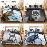 3d huskie dog bedding set cute animal print duvet cover queen king size 23pcs polyester comforter covers home textile quilt