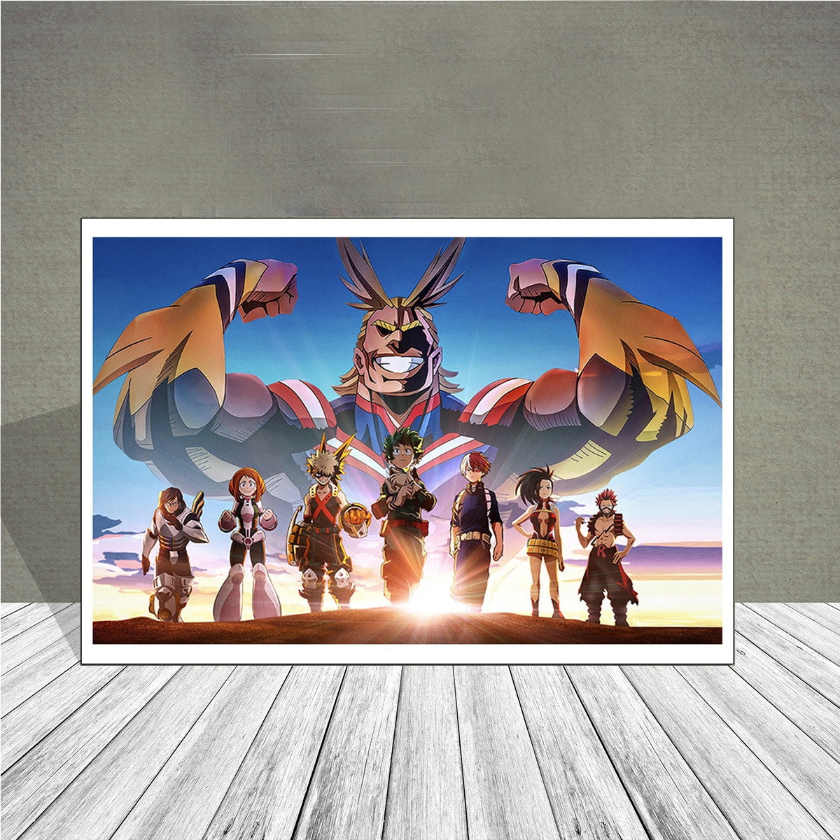 Mein Hero Wissenschaft Öl Malerei Moderne Wand ArtistsResidence Dekoration Anime Poster Japanischen Hause Decor Kinder Wand Kunst Leinwand