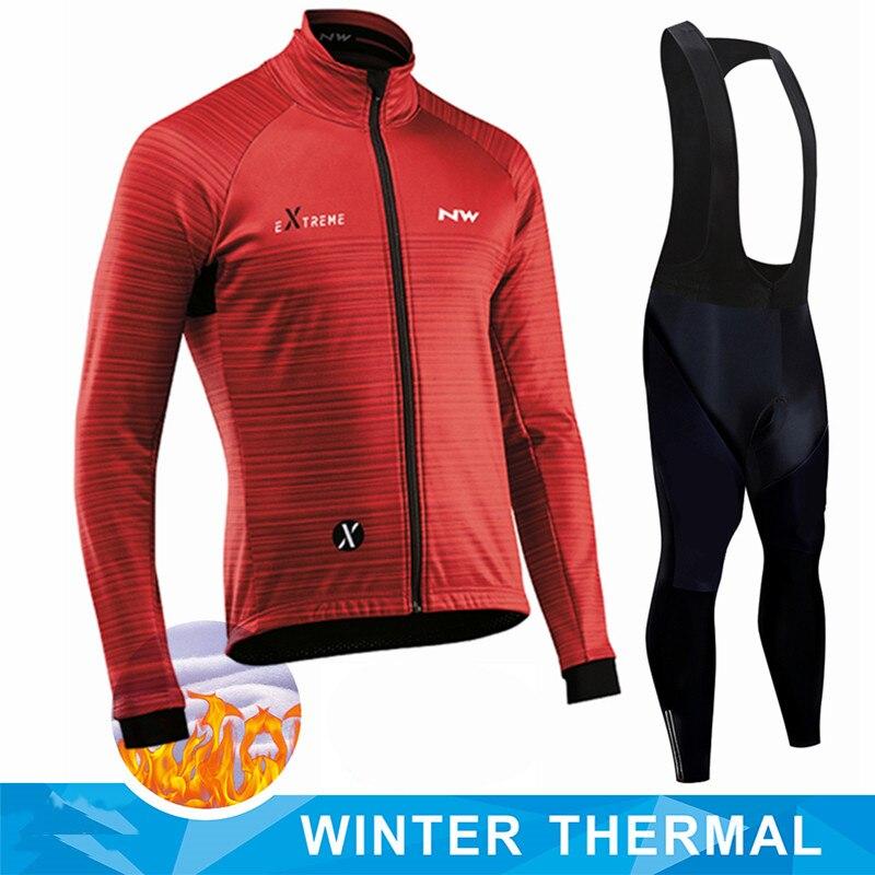 2021 nouveau hiver polaire Pro cyclisme Jersey ensemble Mountian vélo vêtements vêtements Ropa Ciclismo course vélo vêtements cyclisme ensemble