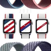 nylon loop strap for apple watch band 44mm 40mm smartwatch 42mm 38mm watchband correa sport belt bracelet iwatch series 4 5 se 6