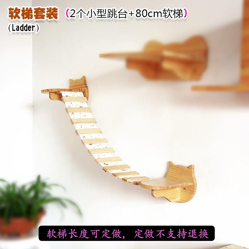 Cat Toy Solid Wood Cat Wall Soft Ladder Cat Climbing Frame Cat Grabbing Column Cat Jumping Platform Cat Room Diy Cat Nest Space