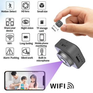 New Portable 1080P Mini Camera Wifi Wireless Camcorder Home Security HD Small Body IP Camera with Rechargeable Battery cam