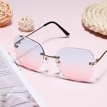 Oversize Men Eyeglasses Trend Vintage Sunglasses For Women Lunette Luxury Brand Designer Sun Glasses