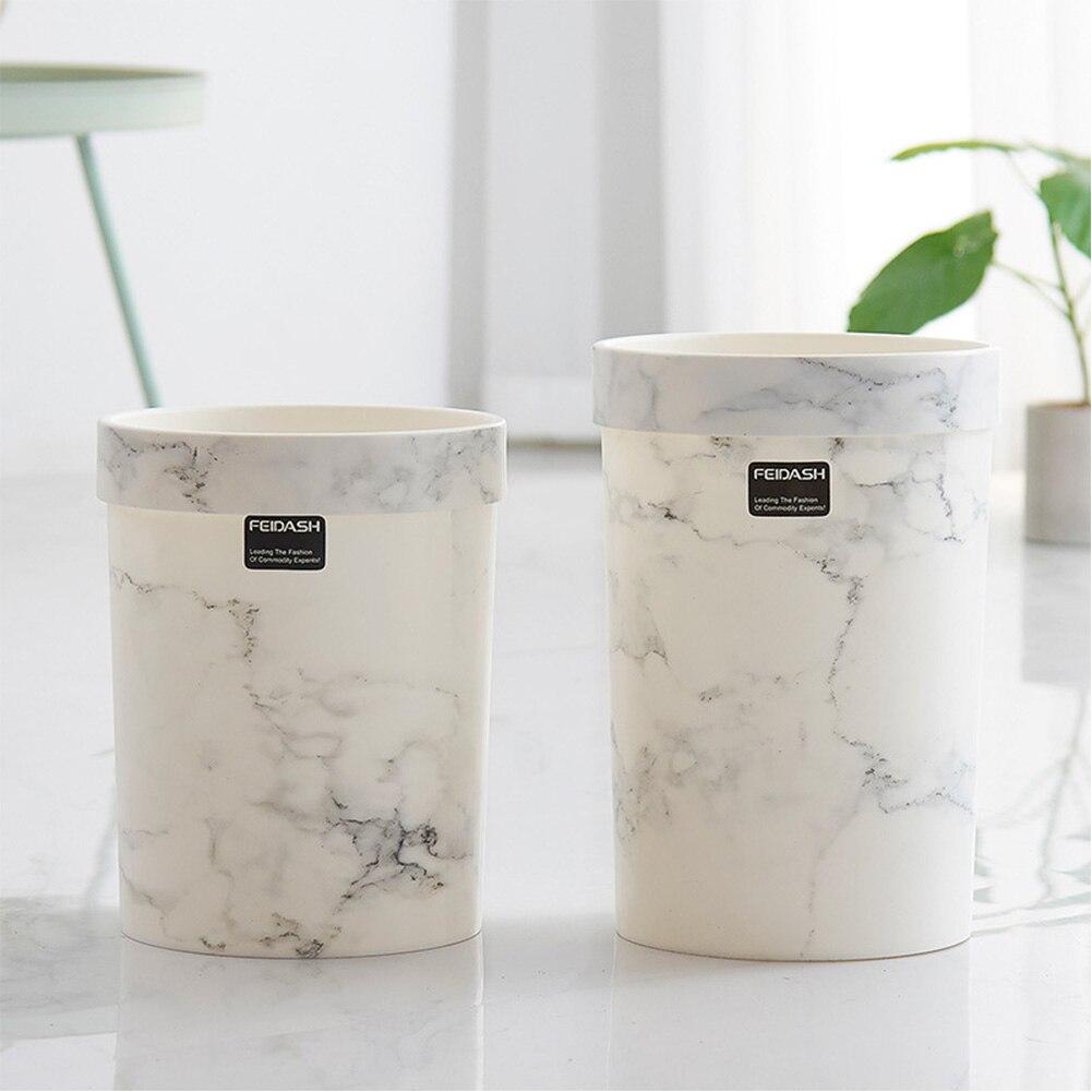 Balde de lixo para escritório, sem tampa, estilo europeu, lixeira de mármore, latas de lixo para quarto, lata de lixo, lixeira de resíduos, quente