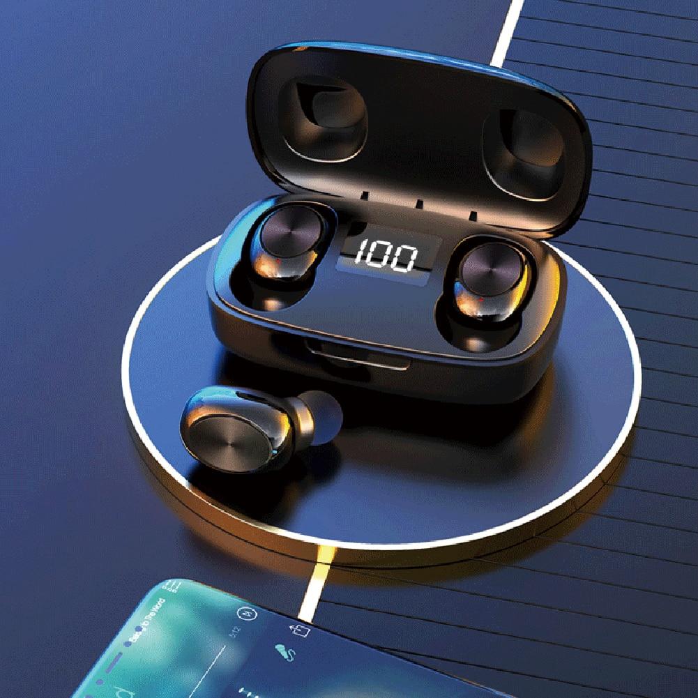 Auriculares inalámbricos S9 con Bluetooth, con diseño convencional, para deportes, llamadas de música en el oído, auriculares TWS