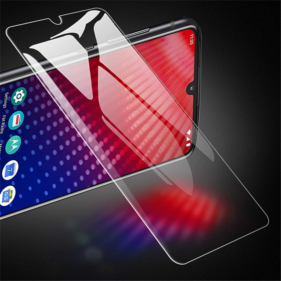 Protector de pantalla de vidrio templado 2 uds para Moto One/Hyper/Zoom/acción/visión/potencia/Z4/Z3/Z2/Z/Play/Force 2.5D película protectora