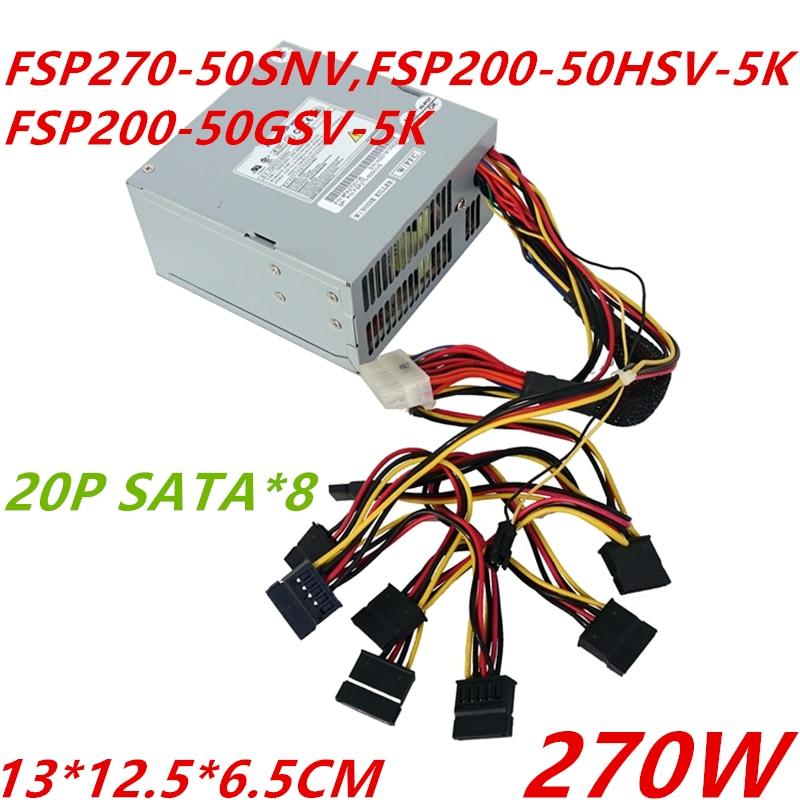 New PSU For FSP DVR NVR SATA*8 20P 270W Power Supply FSP270-50SNV FSP200-50HSV-5K FSP200-50GSV-5K FSP250-60GNV
