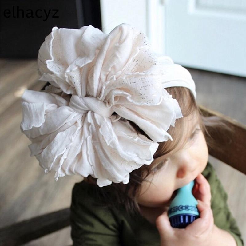 AliExpress - Oversize Lace Bow Baby Headband Wide Soft Flower Silk Hairband Girls Headwear Children Bow Knot Turban Newborn Infant Headwrap