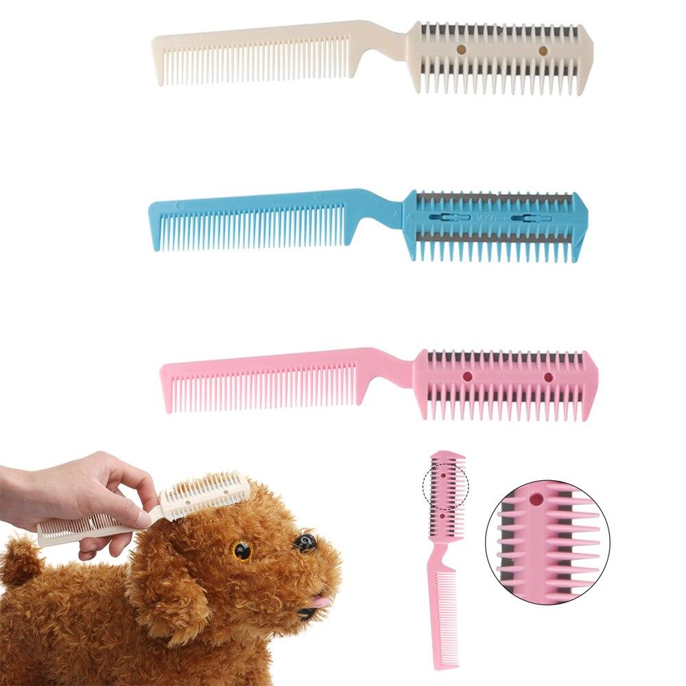 Tijeras profesionales para perros y gatos, herramienta de peluquería, maquinilla de afeitar para pelo de Mascota, peine para acicalamiento, peine para adelgazar