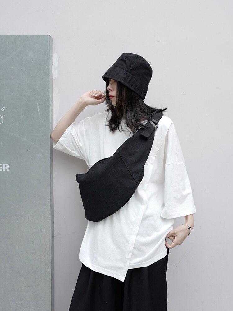 UMI MAO Original Niche Japanese Yamamoto Dark Yoji Dumpling Bag Canvas Designer Abstinence Crossbody Bag