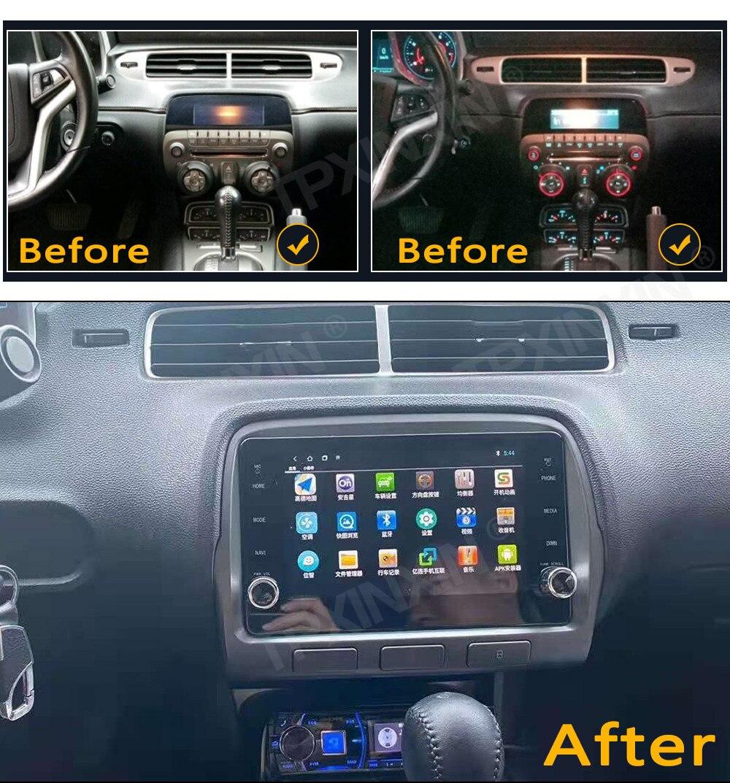 6 + 128G أندرويد 10.0 لشروليه كامارو 2010-2015 شاشة تعمل باللمس سيارة لتحديد المواقع الملاحة ستيريو رئيس وحدة مشغل وسائط متعددة راديو تلقائي