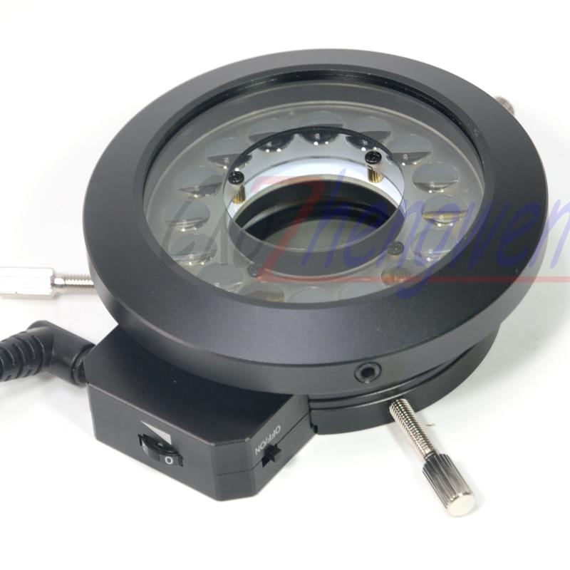 FYSCOPE-حلقة إضاءة مجهر LED ، إضاءة ، 16 قطعة ، مجهر مستقطب ، مصباح حلقي ، أضواء مستقطبة