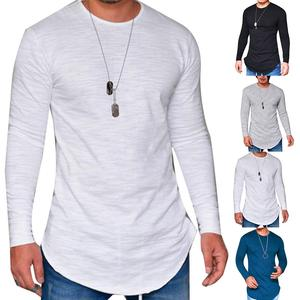 Autumn winter t shirt Men Low Price Long Sleeve Male T-shirts Slims O-Neck Solid Clothing T-shirt street casual cotton pullover