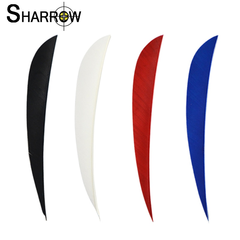 50pcs 5Inch Archery Arrow Feather Fletching Turkey Feathers Drop-Shape Vane Left Wing Bow and Shooting Hunting Accessories