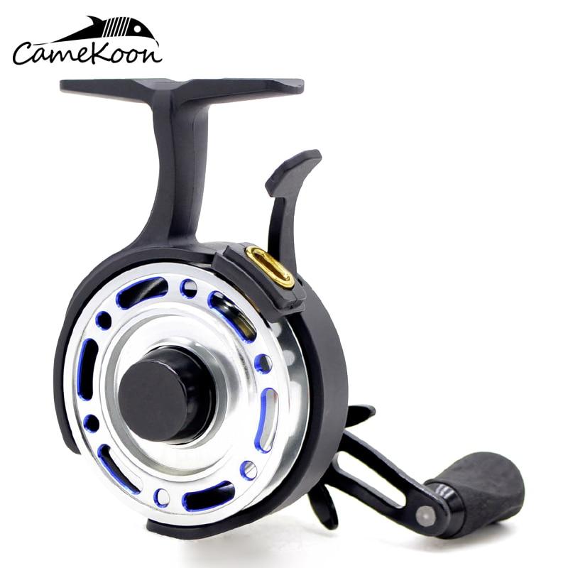 CAMEKOON FI500-بكرة صيد على الجليد ، مضمنة ، 4 محامل كروية ، يسار/يمين ، ملف صيد طوف ، نسبة 2.5:1