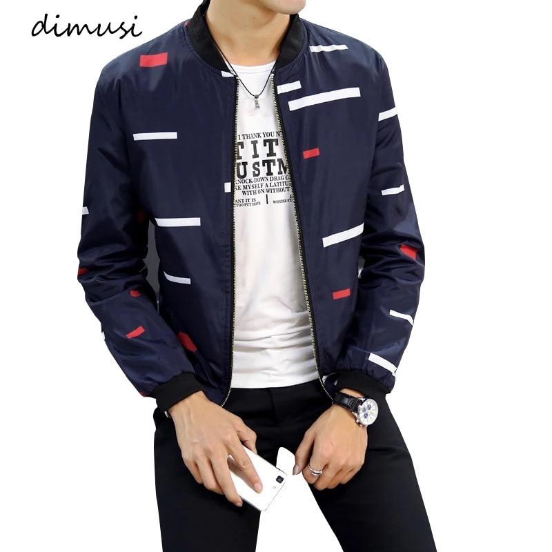 DIMUSI Spring Autumn Men's Bomber Zipper Jacket Fashion Male Anorak Hip Hop Coats Men Outwear Slim Fit Baseball Jackets Clothing