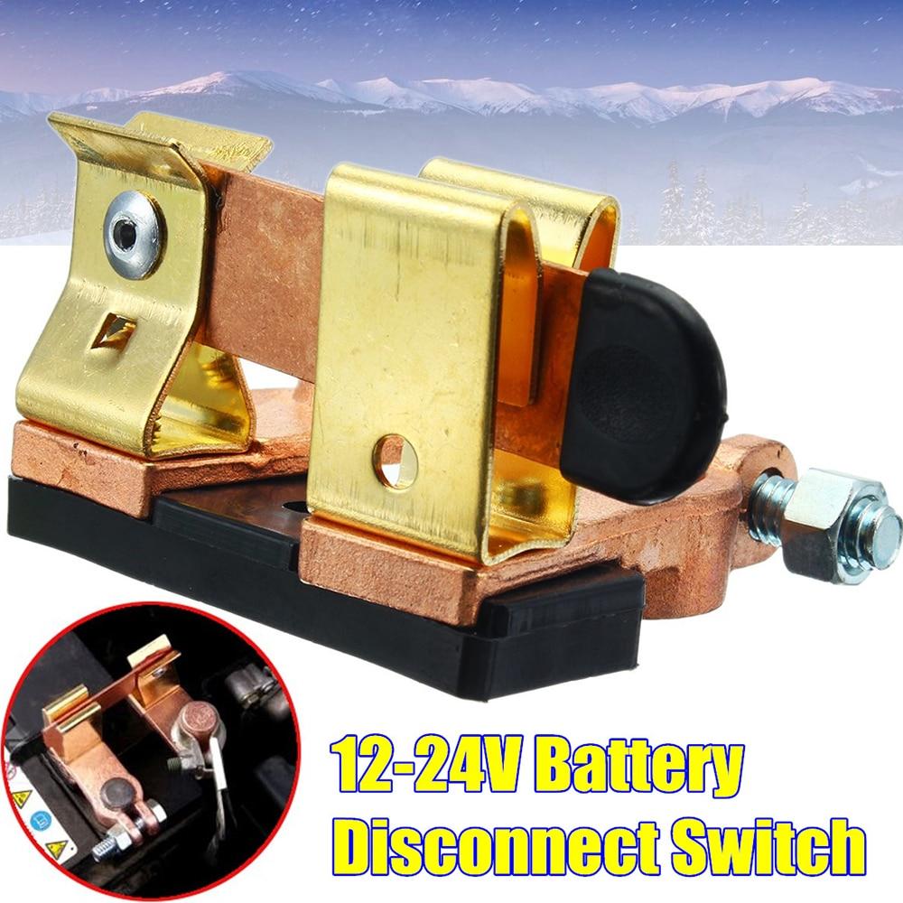 Bateria de carro Interruptor de Faca-tipo 12-24 V Top Post Terminal de Bronze Interruptor de Corte Da Bateria de Carro Auto peças Acessórios Do Carro Interior