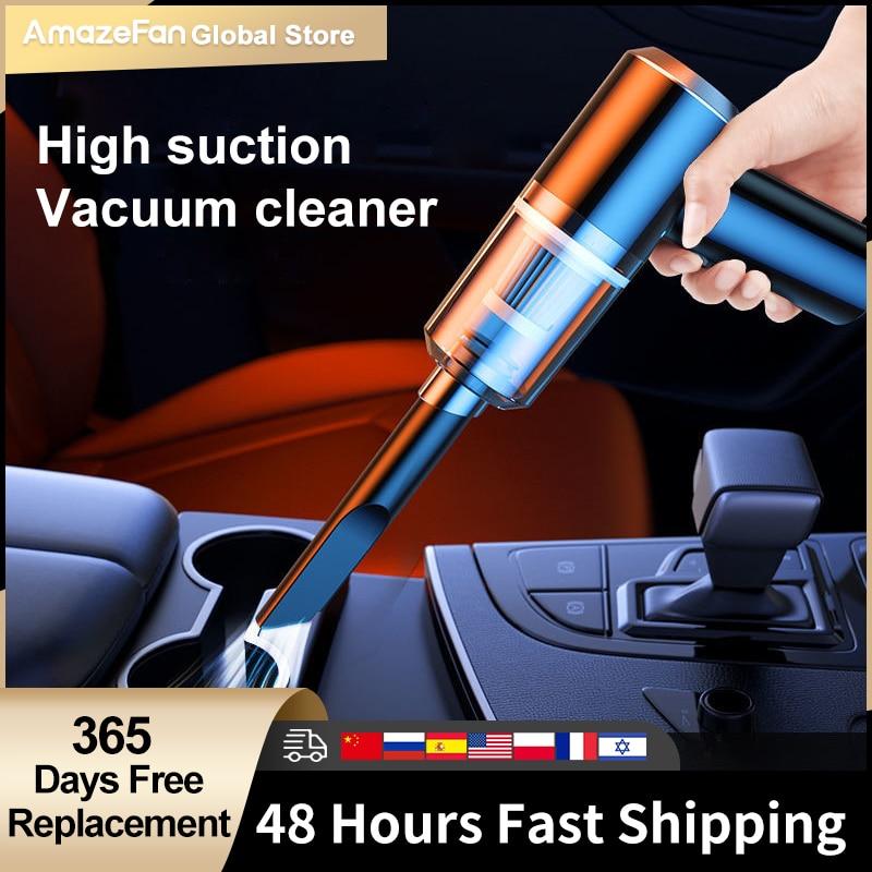 9000pa автомобильный пылесос, мини влажный сухой пылесос автобильный двойного назначения, беспроводной портативный пылесос ручной 120 Вт для д...