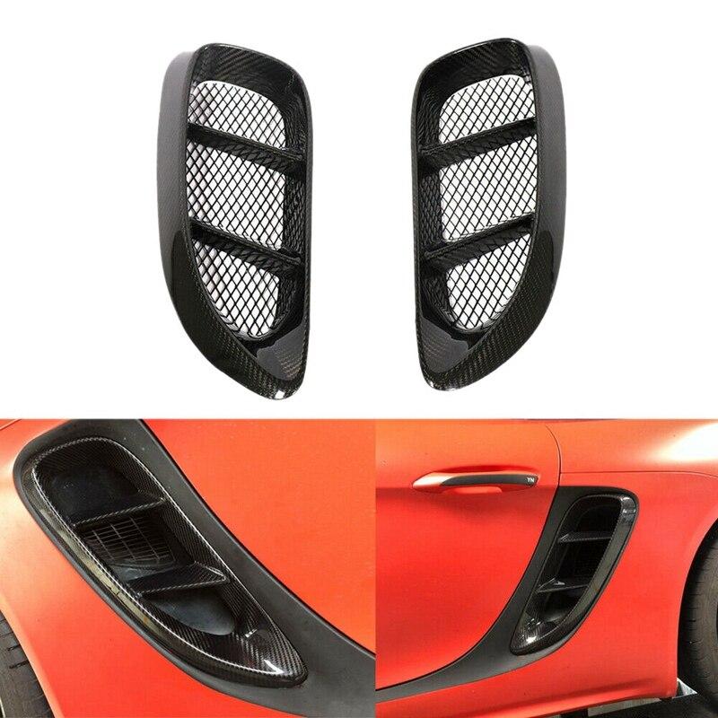 ¡Novedad! 2uds. De fibra de carbono con entrada lateral de ventilación para Porsche718 Boxster Cayman 2016 - 2018
