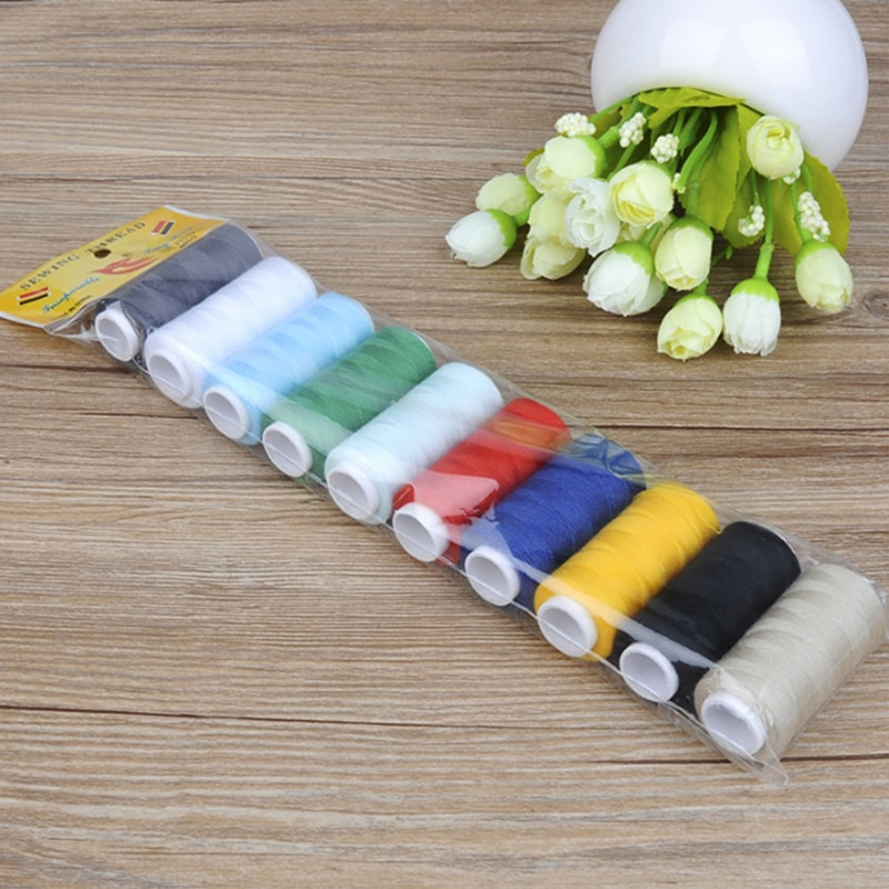 10pcs/pack Sewing Thread Machine Embroidery 200 Yards Spool Home Supplies
