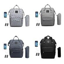 Lequeen-sac à couches multifonction   Sac à dos de chargeur USB grande capacité, sac à dos couches soins, sac poussette couches bébé