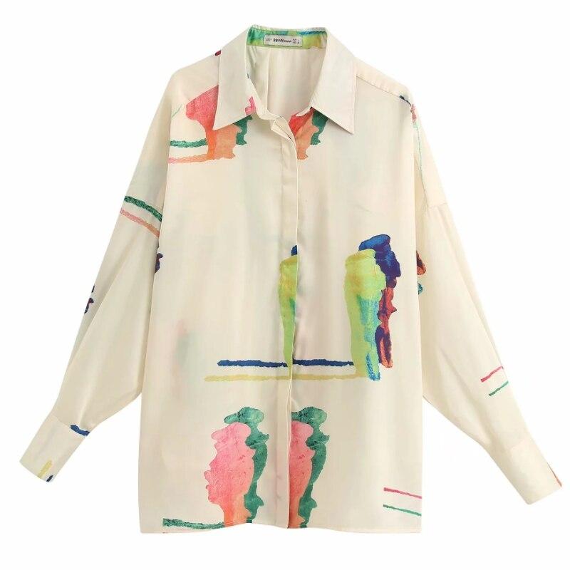 Горячая Распродажа, Женская Повседневная Свободная блузка рубашка с принтом, женская рубашка с длинным рукавом, шикарные бизнес блузы, офисные женские Рубашки, Топы LS6395