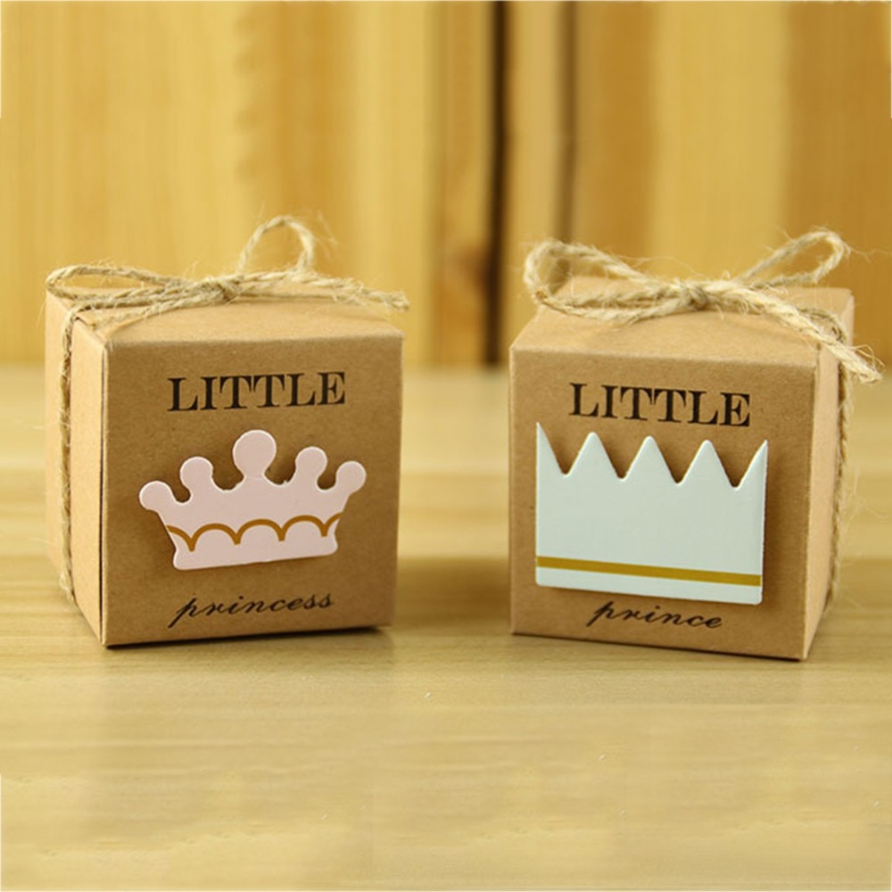 Lote de 50 cajas de dulces para bebé, fiesta de bienvenida al bebé, caja de dulces para bebé, princesa pequeña, caja de dulces, caja de regalo