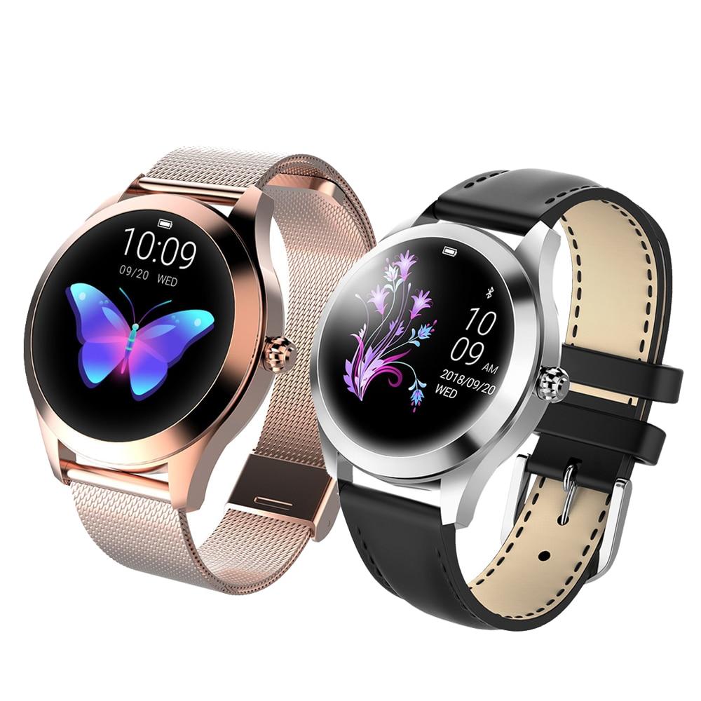 Reloj inteligente de Fitness para mujer IP68, pulsera de Fitness impermeable, Monitor de ritmo cardíaco, reloj inteligente femenino, conectar para IOS y Android