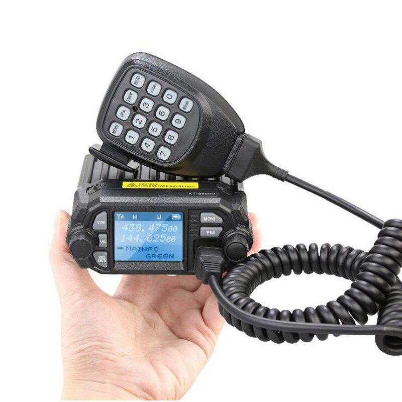 QYT KT-8900D VHF UHF Mobile Radio Dual Band Autoradio FM 25W Walkie Talkie 10KM Communication distance enlarge