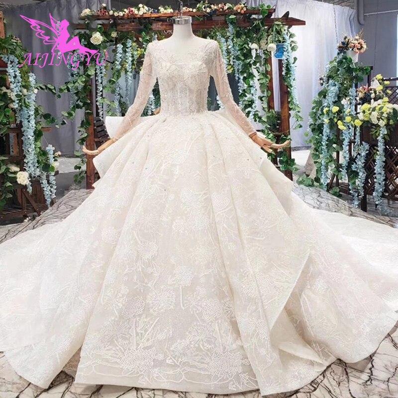 AIJINGYU فساتين زفاف ملونة, فساتين روسية فاخرة لحفلات الزفاف