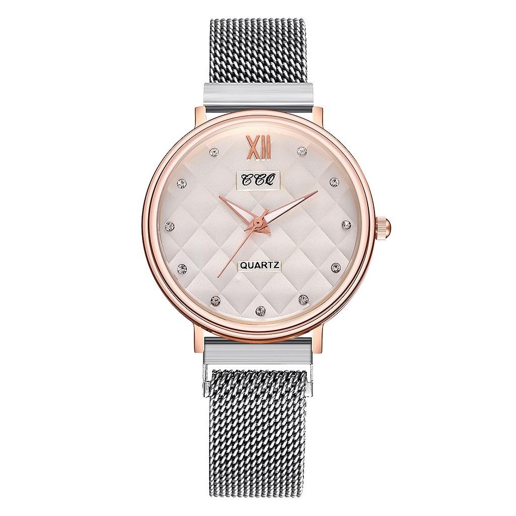 Simple Style Silver Watches Fashion Personality Stainless Steel Mesh Belt Ladies Quartz Watch Waterproof Watch Gift часы женские умные часы huawei watch steel mesh mesh серебряная сталь 42mm