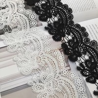 8cm wavy water soluble milk silk lace small plum blossom embroidery lace barcode high quality womens hollow lace