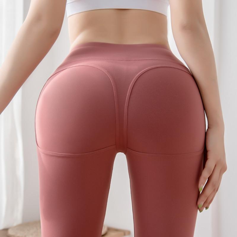 Sports fitness trousers running hips high waist elastic tights feet yoga pants women push up leggings fitness workout leggings