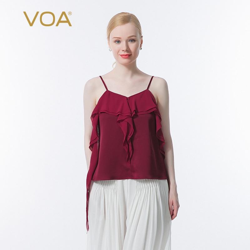 VOA الحرير على الوجهين الحرير 40 متر/شهر ملابس علوية جورجيت خياطة الحرير تتوافق تصميم الحلو سترة الرافعة BE691 أفضل Mujer Verano 2021